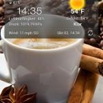 Huawei Bildschirm mit Wallpaper