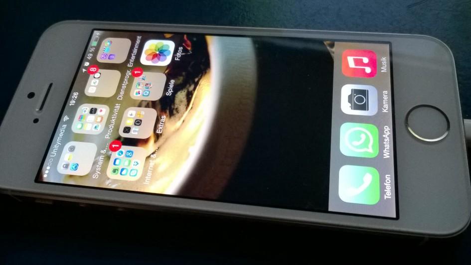 Mein Leihhandy - ein Apple Iphone 5s Gold