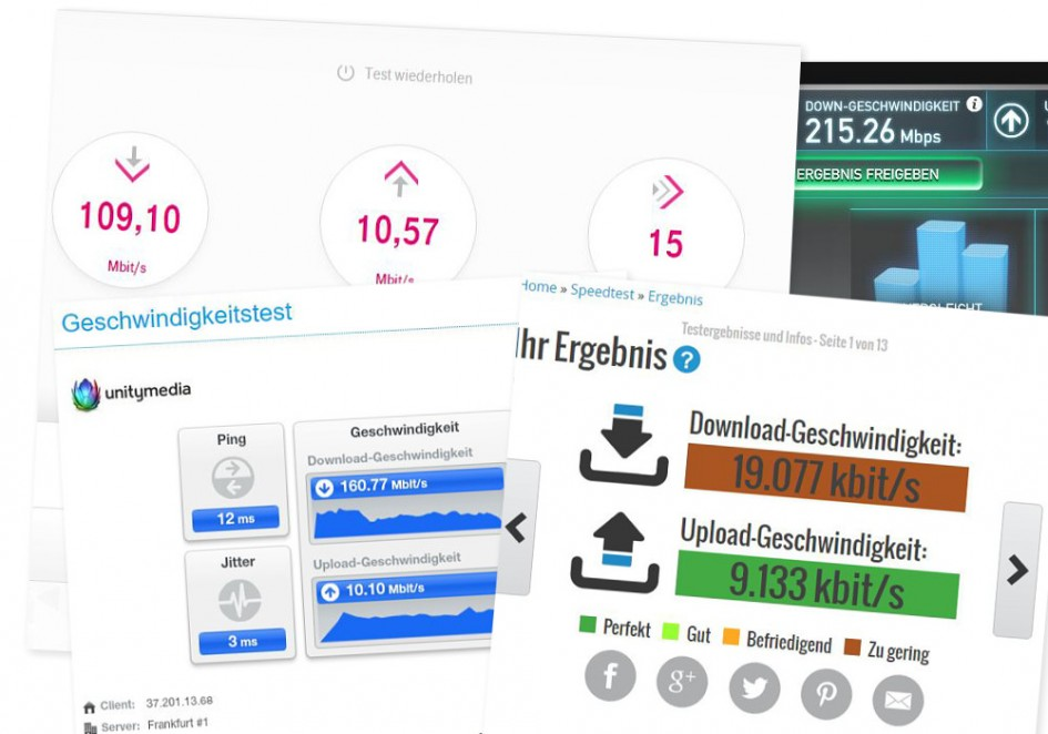 Meine Speedtests