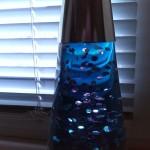 Glitterlampe als Fotomotiv