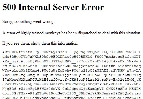 Youtube Error 500